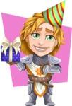 Blonde Prince with Armor Cartoon Vector Character AKA Edgar Medieval - Shape 7