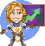 Blonde Prince with Armor Cartoon Vector Character AKA Edgar Medieval - Shape 8