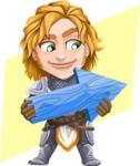 Blonde Prince with Armor Cartoon Vector Character AKA Edgar Medieval - Shape 10