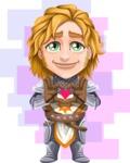 Blonde Prince with Armor Cartoon Vector Character AKA Edgar Medieval - Shape 11