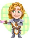 Blonde Prince with Armor Cartoon Vector Character AKA Edgar Medieval - Shape 12