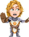 Blonde Prince with Armor Cartoon Vector Character AKA Edgar Medieval - Direct Attention 2