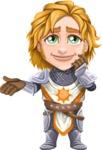 Blonde Prince with Armor Cartoon Vector Character AKA Edgar Medieval - Sorry