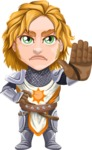 Blonde Prince with Armor Cartoon Vector Character AKA Edgar Medieval - Stop 2