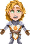 Blonde Prince with Armor Cartoon Vector Character AKA Edgar Medieval - Stunned