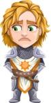 Blonde Prince with Armor Cartoon Vector Character AKA Edgar Medieval - Sad 2