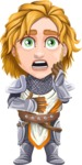 Blonde Prince with Armor Cartoon Vector Character AKA Edgar Medieval - Shocked