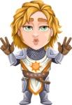 Blonde Prince with Armor Cartoon Vector Character AKA Edgar Medieval - Diva