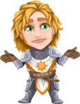 Blonde Prince with Armor Cartoon Vector Character AKA Edgar Medieval - Confused