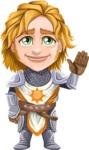 Blonde Prince with Armor Cartoon Vector Character AKA Edgar Medieval - Goodbye