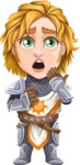 Blonde Prince with Armor Cartoon Vector Character AKA Edgar Medieval - Oops