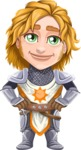Blonde Prince with Armor Cartoon Vector Character AKA Edgar Medieval - Patient