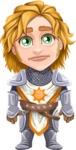 Blonde Prince with Armor Cartoon Vector Character AKA Edgar Medieval - Blank