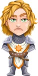 Blonde Prince with Armor Cartoon Vector Character AKA Edgar Medieval - Bored
