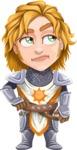 Blonde Prince with Armor Cartoon Vector Character AKA Edgar Medieval - Bored2