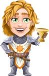 Blonde Prince with Armor Cartoon Vector Character AKA Edgar Medieval - Toast