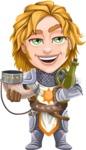 Blonde Prince with Armor Cartoon Vector Character AKA Edgar Medieval - Toast 2