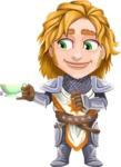 Blonde Prince with Armor Cartoon Vector Character AKA Edgar Medieval - Teabreak