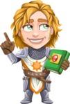 Blonde Prince with Armor Cartoon Vector Character AKA Edgar Medieval - Book