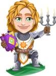 Blonde Prince with Armor Cartoon Vector Character AKA Edgar Medieval - Book 2