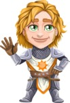 Blonde Prince with Armor Cartoon Vector Character AKA Edgar Medieval - Wave