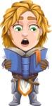 Blonde Prince with Armor Cartoon Vector Character AKA Edgar Medieval - Book 3