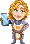 Blonde Prince with Armor Cartoon Vector Character AKA Edgar Medieval - Smartphone