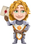 Blonde Prince with Armor Cartoon Vector Character AKA Edgar Medieval - Letter 1