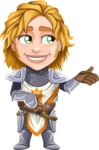 Blonde Prince with Armor Cartoon Vector Character AKA Edgar Medieval - Showcase