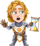 Blonde Prince with Armor Cartoon Vector Character AKA Edgar Medieval - Time is running out