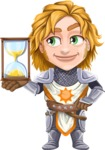 Blonde Prince with Armor Cartoon Vector Character AKA Edgar Medieval - On time