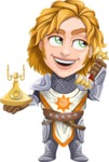 Blonde Prince with Armor Cartoon Vector Character AKA Edgar Medieval - Support 1