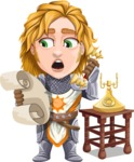 Blonde Prince with Armor Cartoon Vector Character AKA Edgar Medieval - Support 2