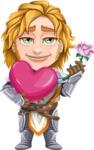 Blonde Prince with Armor Cartoon Vector Character AKA Edgar Medieval - Love