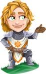 Blonde Prince with Armor Cartoon Vector Character AKA Edgar Medieval - Showcase 2