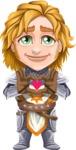 Blonde Prince with Armor Cartoon Vector Character AKA Edgar Medieval - Show love