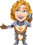 Blonde Prince with Armor Cartoon Vector Character AKA Edgar Medieval - Support 3