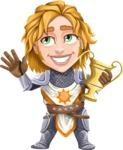 Blonde Prince with Armor Cartoon Vector Character AKA Edgar Medieval - Winner 1