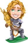 Blonde Prince with Armor Cartoon Vector Character AKA Edgar Medieval - Winner 2