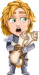 Blonde Prince with Armor Cartoon Vector Character AKA Edgar Medieval - Plans