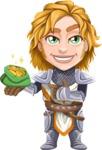 Blonde Prince with Armor Cartoon Vector Character AKA Edgar Medieval - Show me the money