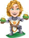 Blonde Prince with Armor Cartoon Vector Character AKA Edgar Medieval - Money