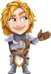 Blonde Prince with Armor Cartoon Vector Character AKA Edgar Medieval - Show