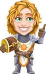 Blonde Prince with Armor Cartoon Vector Character AKA Edgar Medieval - Treasure chest 4