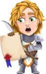 Blonde Prince with Armor Cartoon Vector Character AKA Edgar Medieval - Contract