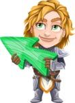 Blonde Prince with Armor Cartoon Vector Character AKA Edgar Medieval - Arrow 2
