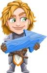 Blonde Prince with Armor Cartoon Vector Character AKA Edgar Medieval - Arrow 3