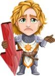 Blonde Prince with Armor Cartoon Vector Character AKA Edgar Medieval - Arrow 4