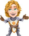 Blonde Prince with Armor Cartoon Vector Character AKA Edgar Medieval - Show 2