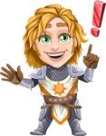 Blonde Prince with Armor Cartoon Vector Character AKA Edgar Medieval - Idea